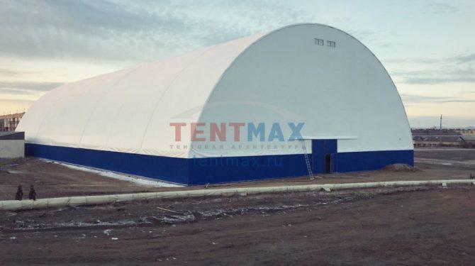 Каркасно-тентовое укрытие хоккейного комплекса