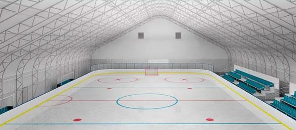 Быстровозводимые каркасно тентовые ангары для хоккея