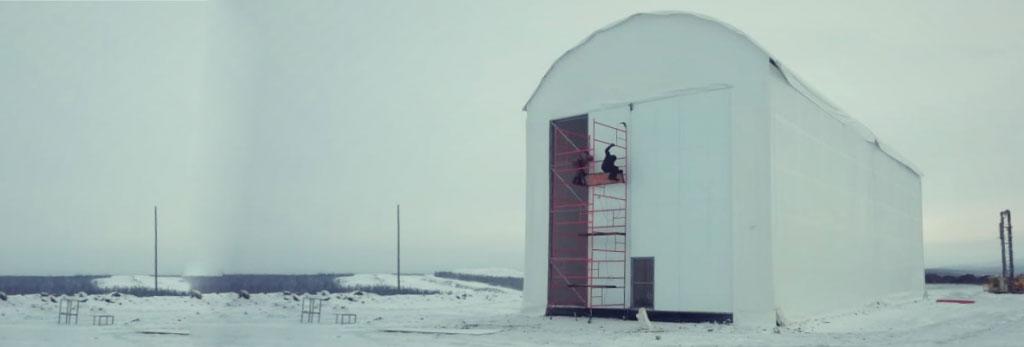 Каркасно тентовый гараж для БелАЗа