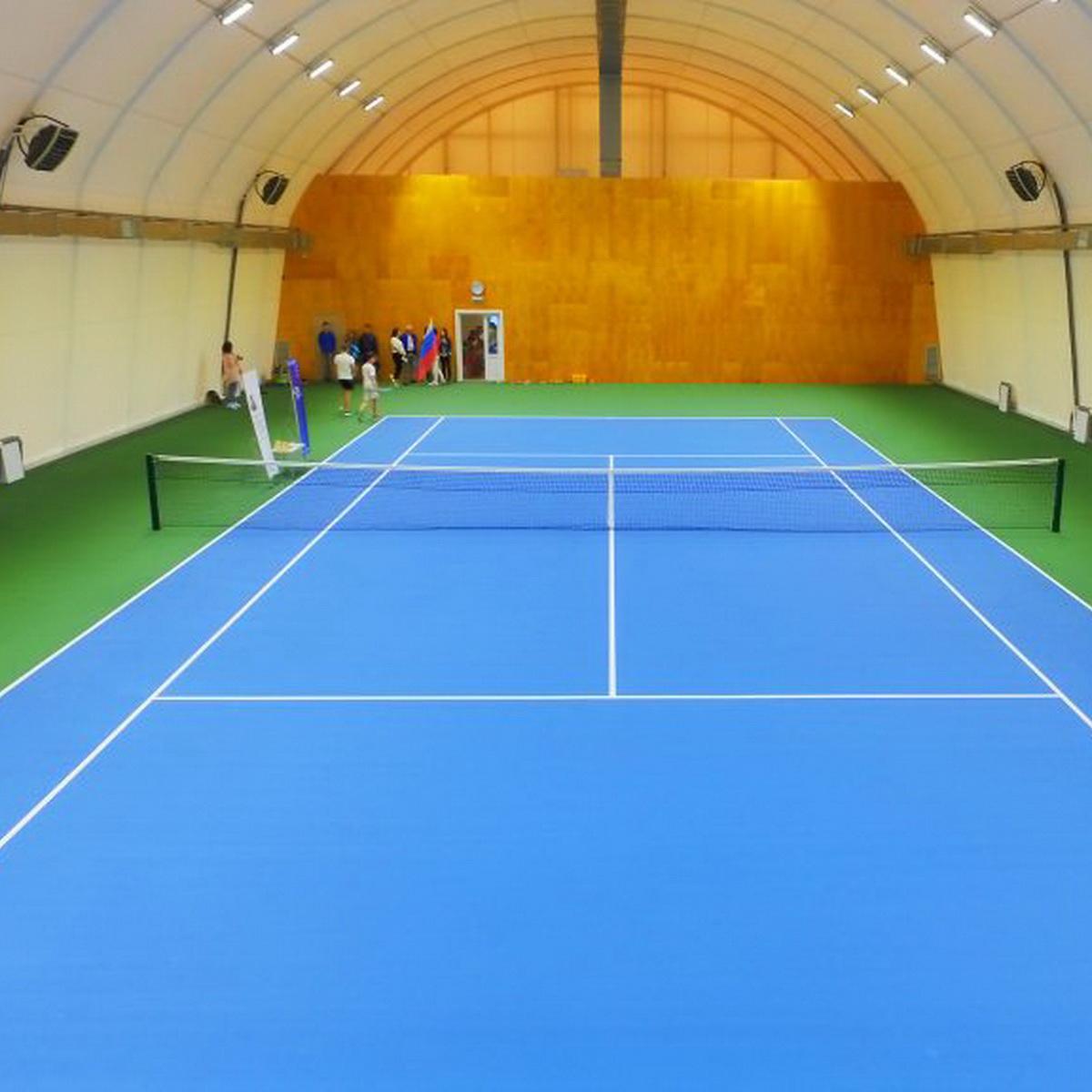 Каркасно тентовые ангары для укрытия теннисных кортов