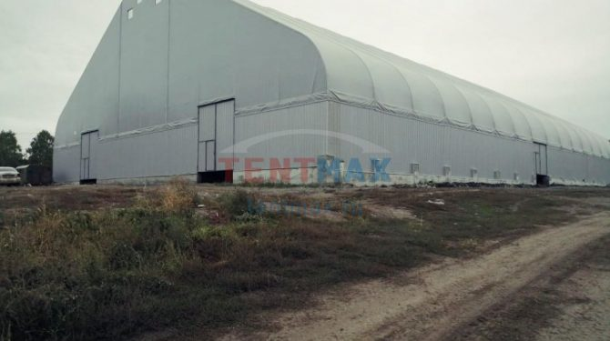 Каркасно тентовое зернохранилище