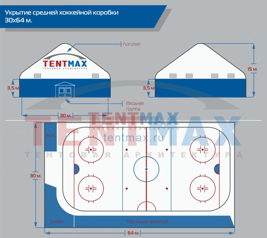 Средняя хоккейная коробка
