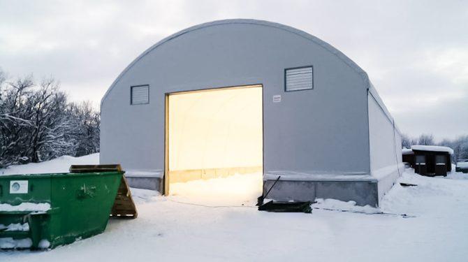 Каркасно-тентовый склад